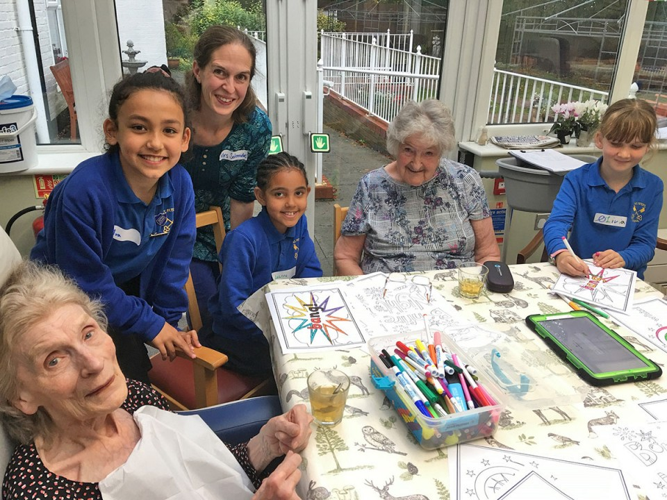 Arts and Crafts Benefit Young and Old at Winchester Nursing Home