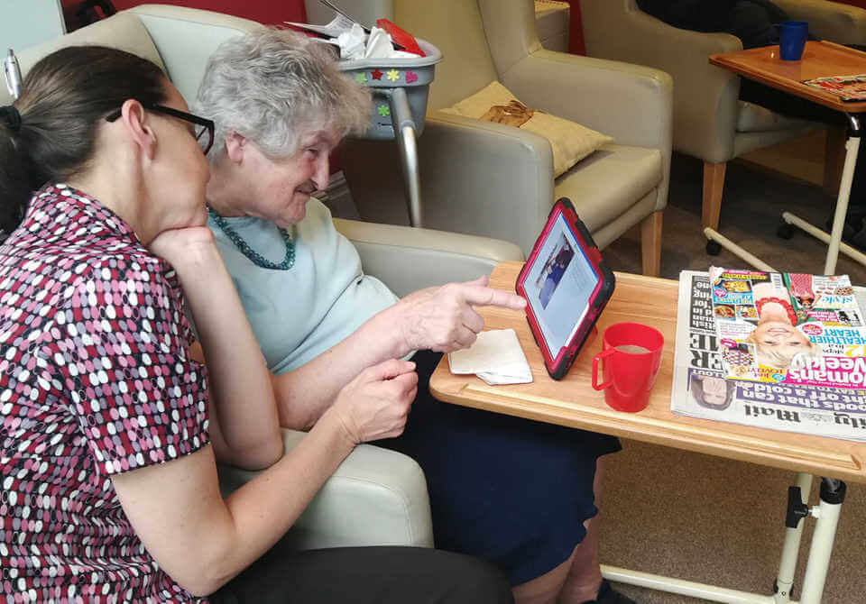 Marian using interactiveMe at Westacre